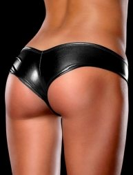 Plus Size Metallic Panty Black