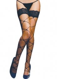 Μαύρη διχτυωτή κάλτσα Black Stocking
