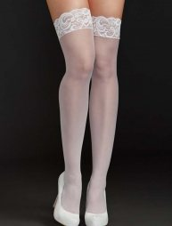 White Sexy stocking with lace