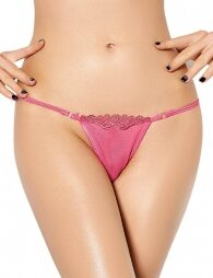 Plus Size Panty Pink With Lace Details