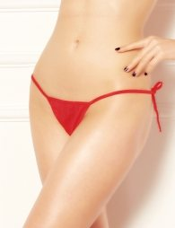 Red g string with cords