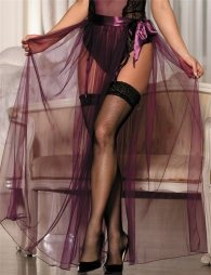 Dignity Purple Transparent Skirt
