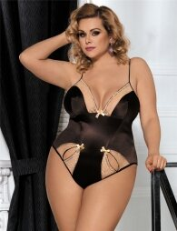Plus Size Brown Teddy With Two Holes Front
