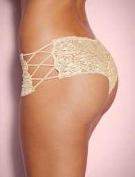 Floral Lace High Waist Sexy Nude Panty