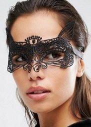 Enchanting Black Lace eye mask