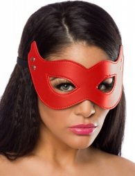Red Leather Eye Mask