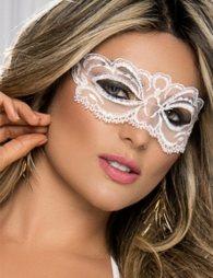 Enchanting white Lace eye mask