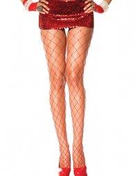 Fashion Red Fishnet Stocking