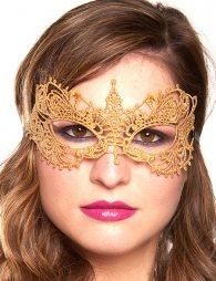 Glamorous Golden Lace Eye Mask