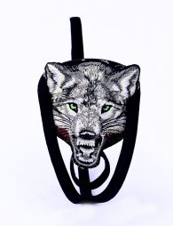 C String For Man with wolf pattern