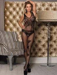 Butterfly Pattern Backless Bodystocking