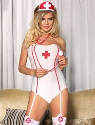 Sexy Nurse Costume Teddy