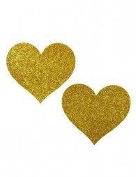 Glod Glitter Heart-shaped Nipple Cover