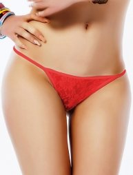 Plus size red panty