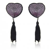 Heart shine nipples tassels (rosa)