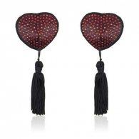 Heart shine nipples tassels (rosso)