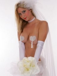1 Pair Sweetheart Bridal Sequin Pasties
