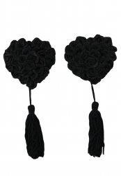 Black Lucky Shape Pasties with Tassels