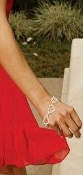 Βραχιόλι Rhinestone Heart Bracelet
