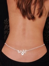 Babe Rhinestone Belly Chain and Lower Back