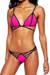 Strappy Moulded Triangle Bikini Top