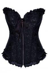 All Black Zip Front Corset