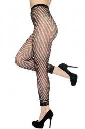 Sexy Hosiery Fashion Fishnet Footless Tights W Chevron Panthose