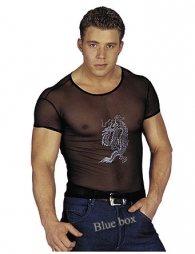 Μαύρο T-shirt με στάμπα κινέζικου δράκου