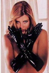 Μαύρα γάντια από Latex σε medium μέγεθος
